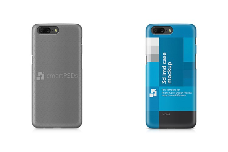 OnePlus 5 3d IMD Mobile Case Design Mockup 2017 example image 1