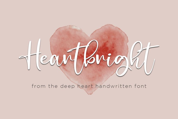 Heartbright Handwritten Script Font example image 1