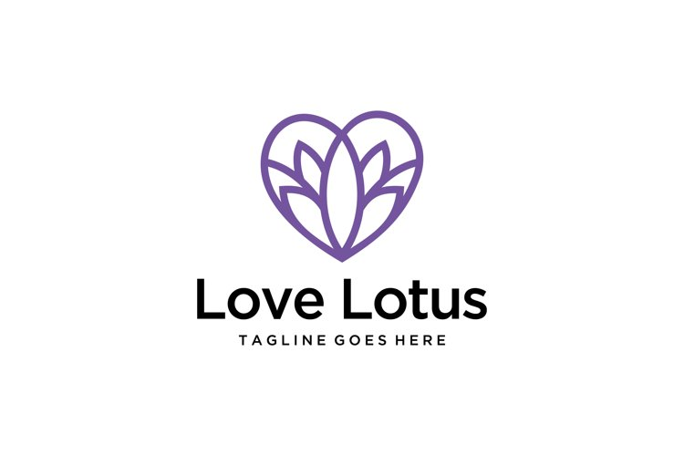 love Lotus Flower logo example image 1