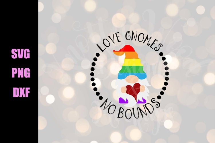 Pride SVG - Love gnomes - Downloadable PNG, DXF, SVG, EP example image 1