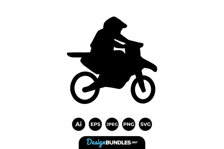 Dirt Bike Silhouettes example image 1