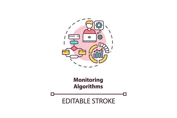 Monitoring algorithms concept icon example image 1