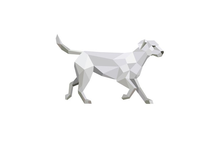 Labrador Walking Low Polygon example image 1