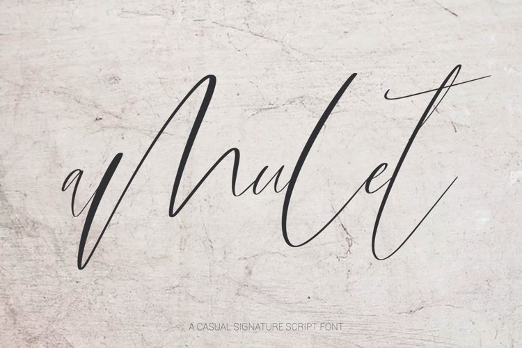 Amulet. Signature Script Font example image 1