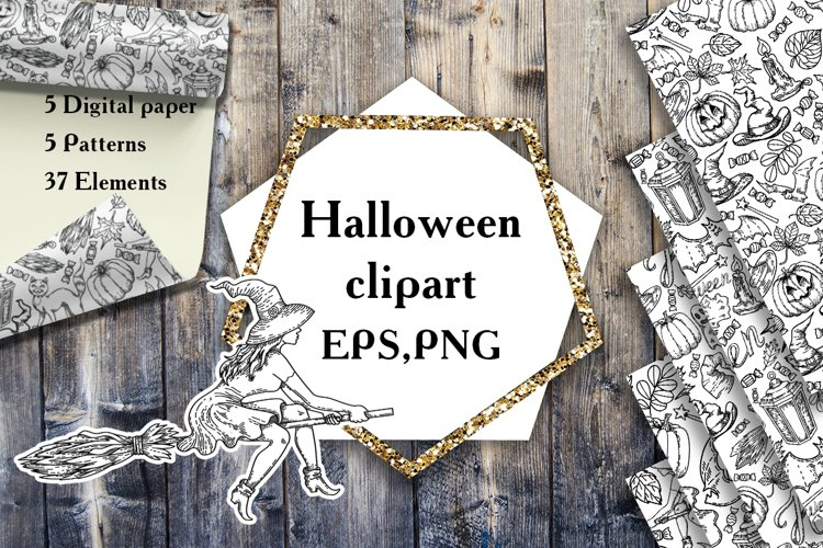 Halloween clipart EPS, PNG