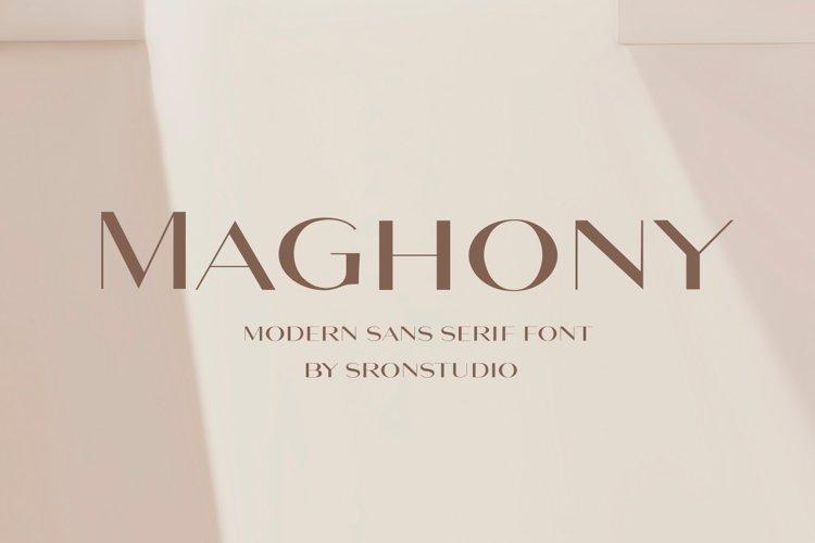 Maghony - Modern Sans Serif Font