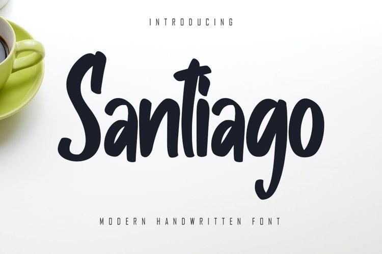 Santiago - Modern Handwritten Font example image 1