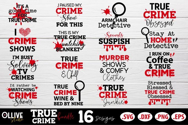 True Crime SVG Bundle | Murder Shows SVG Bundle