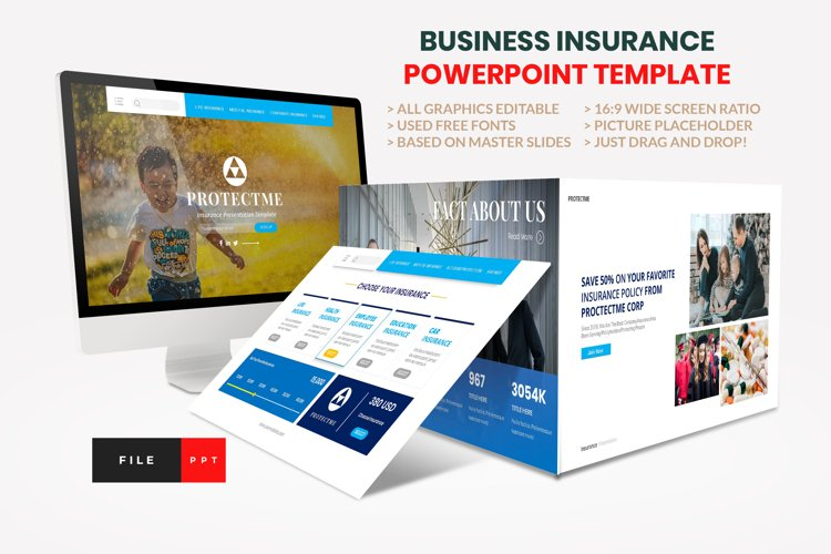 Insurance - Business Consultant PowerPoint Template example image 1