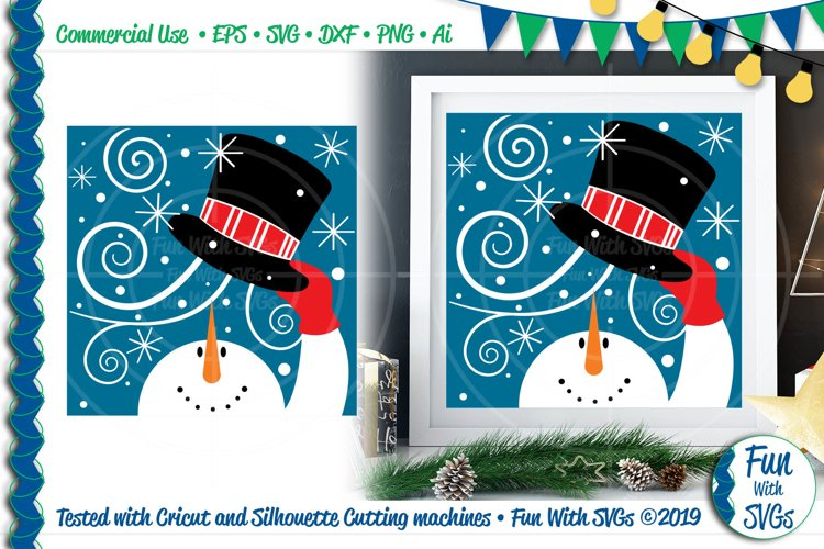 Snowman Windy Hat SVG Cut File example image 1