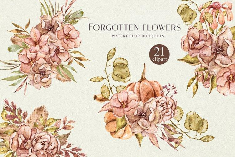 Autumn bouquets clipart. Bohemian wedding illustrations