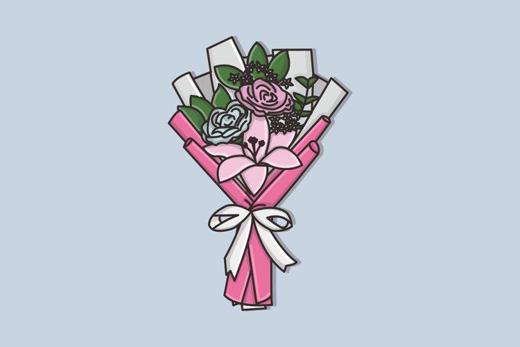 Flower Bucket Vector Image Illustration example image 1