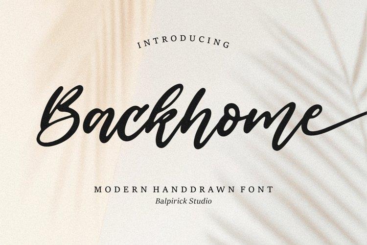 Backhome Modern Handdrawn Font example image 1