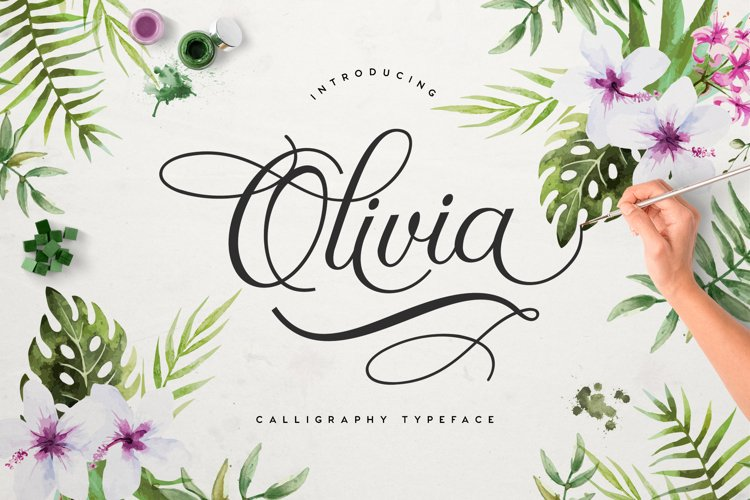 Olivia Script Free example