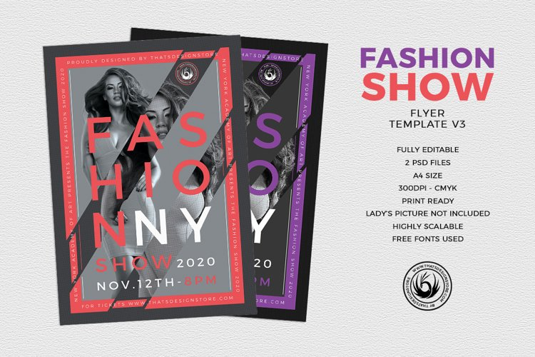 Fashion Show Flyer Template V3 example image 1