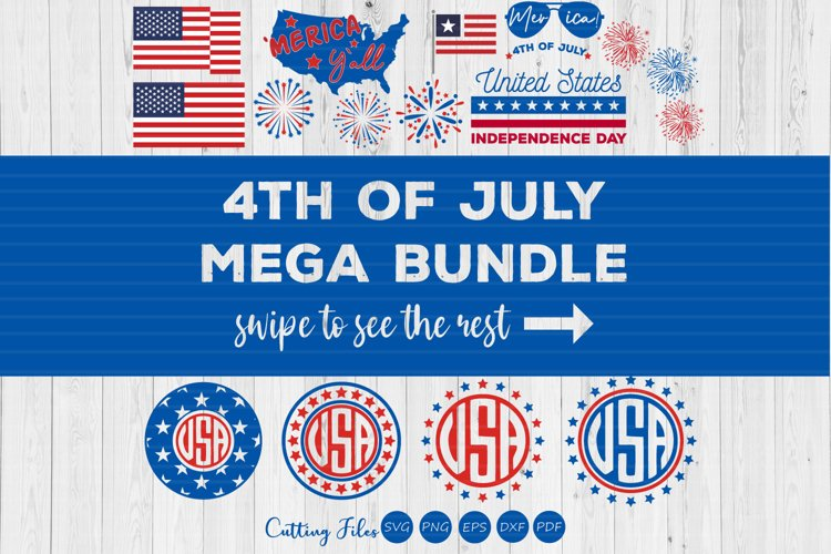 4th of july 40 designs bundle| 4th of July | SVG Cut files | example image 1