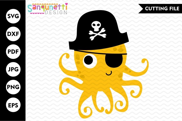 Octopus SVG, pirate cutting files