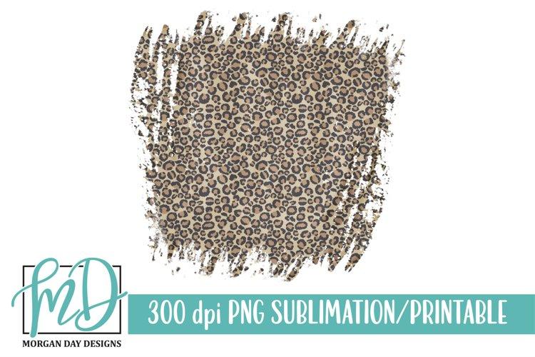 Grunge Leopard Background Printable Sublimation PNG example image 1