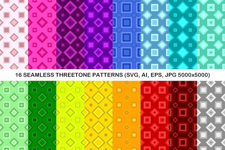 16 Seamless ThreeTone Square Patterns example image 1