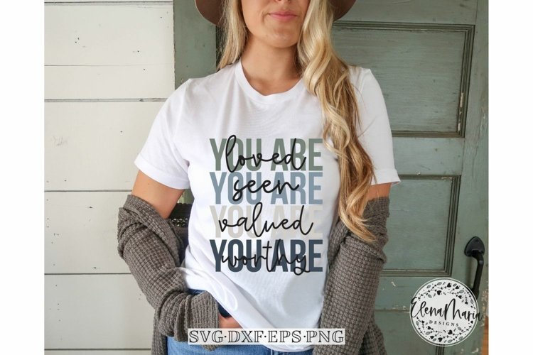 You are loved SVG Cutting File | Inspirational Motivational example image 1