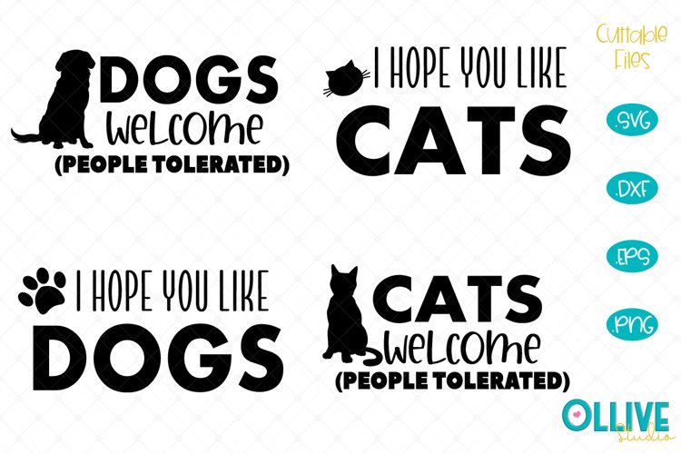 Cat and Dogs Doormat SVG Mini Bundle example image 1