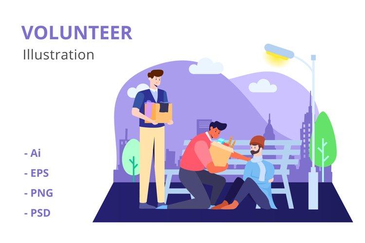 Volunteer Illustration example image 1