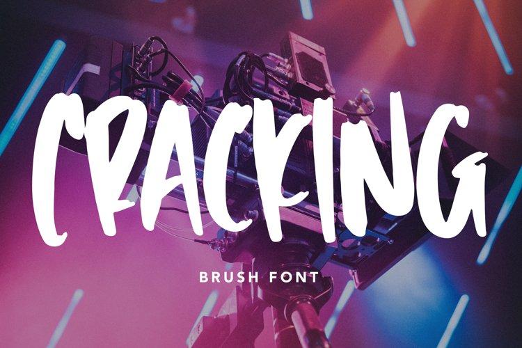 Cracking - Brush Font example image 1