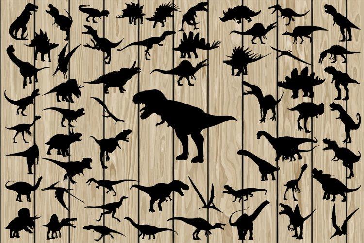 57 Dinosaur SVG, Dinosaur Vector, Dinosaur Silhouette. example image 1
