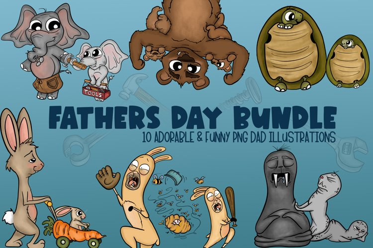 Fathers Day Bundle|Cute Fathers Day Clipart|Dad Clipart