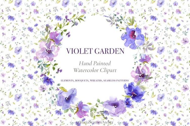 Violet Garden - Watercolor Clipart