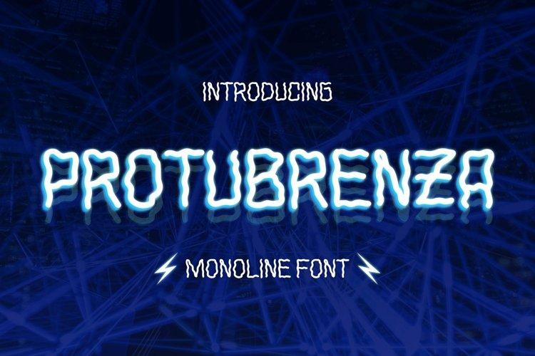 Web Font Protuberanza Font example image 1