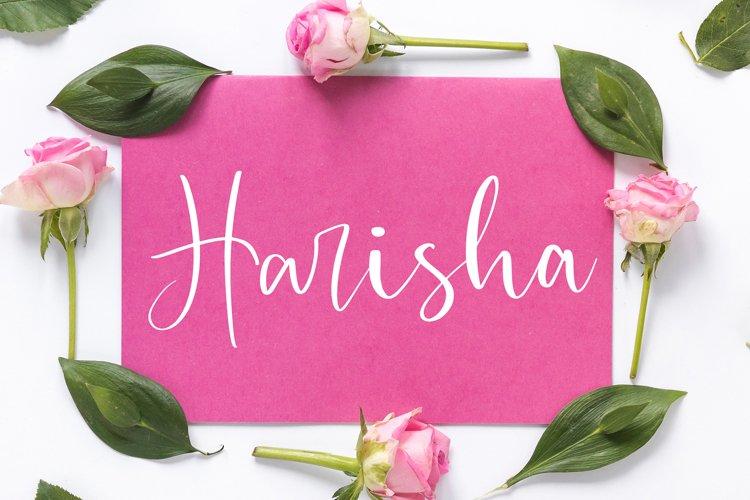 Harisha Modern Script Font example image 1