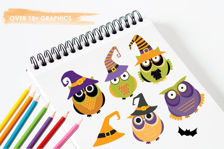 Halloween Owls graphics and illustrations - Free Design of The Week Design1