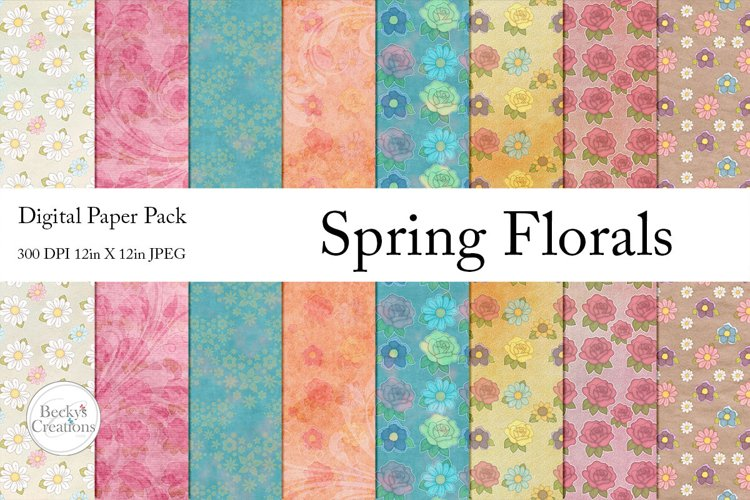 Spring Florals Paper Pack example image 1