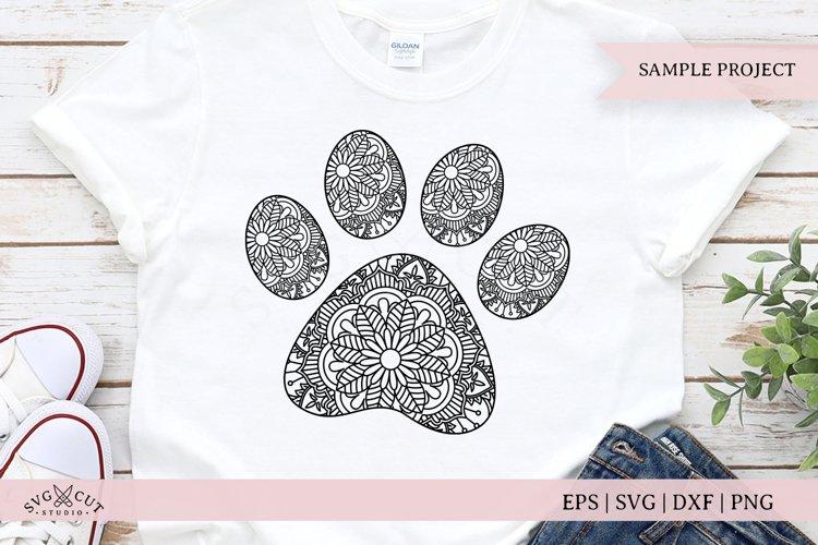 Mandala Dog Paw Print SVG Cut Files