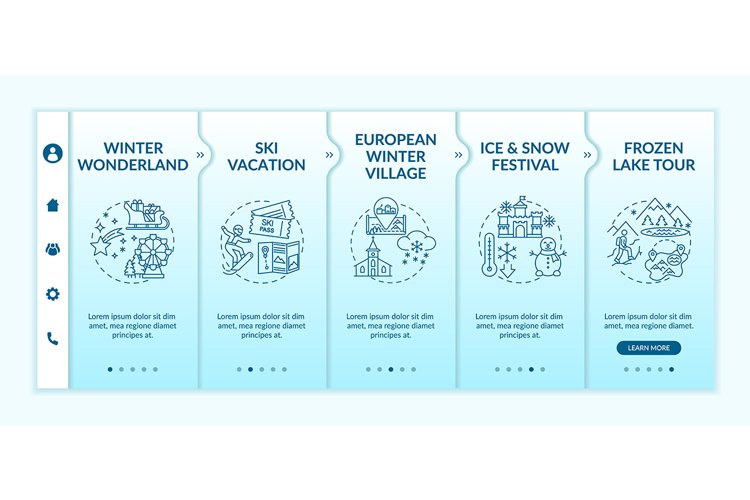 Winter holiday onboarding vector template example image 1