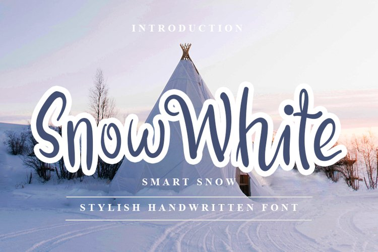 Snow White - Stylish Handwritten Font example image 1