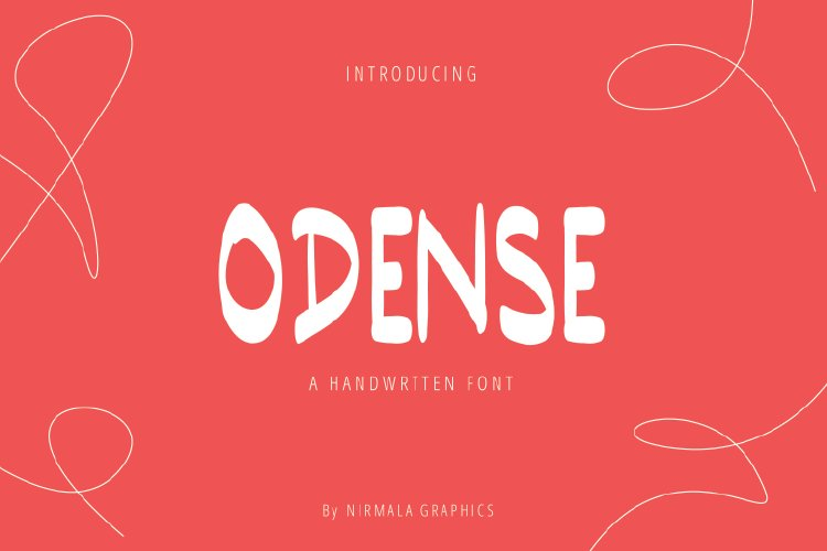 Odense Handwritten Font example image 1