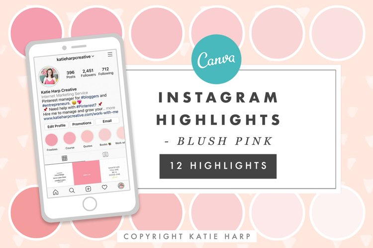 Instagram Highlight Covers - Blush Pink Solid Colors example image 1