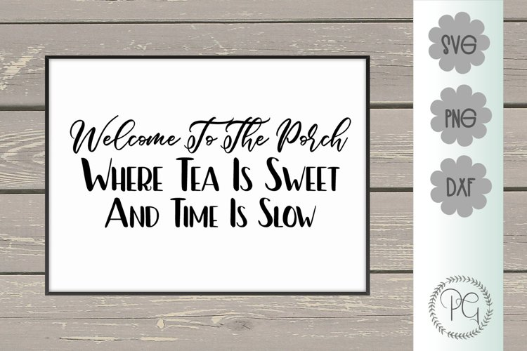 Welcome to the Porch SVG PNG JPG DXF example image 1