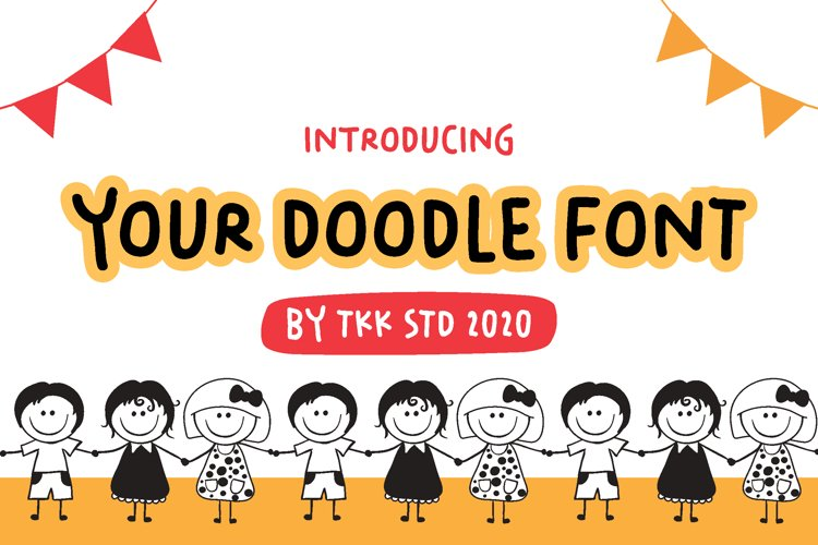 Your Doodle Font - Cute Kids Handwriting Font example image 1