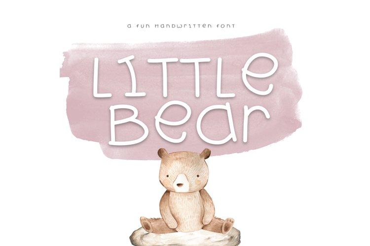 Little Bear - A Fun Handwritten Font example image 1