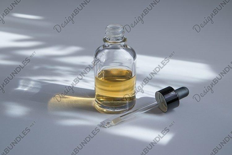 Oils, hyaluronic acid or essences in glass dropper bottle