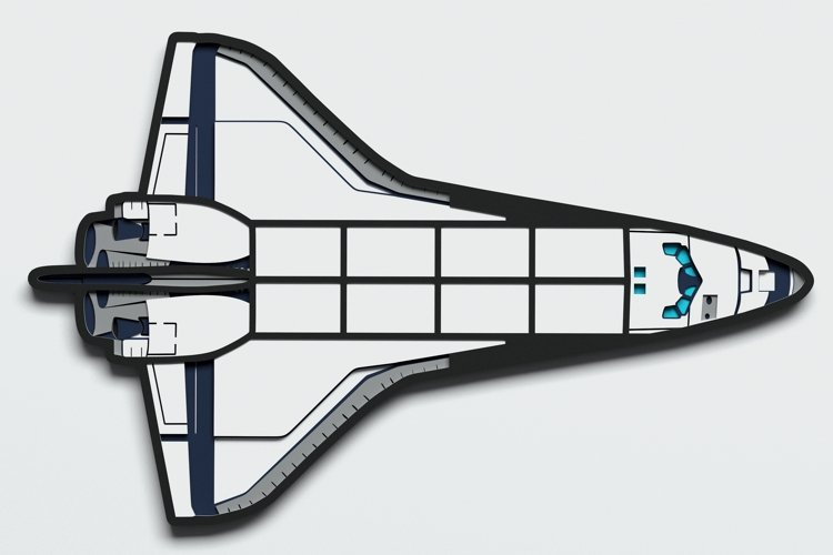Multilayer Space Shuttle svg, Vector file for cutting