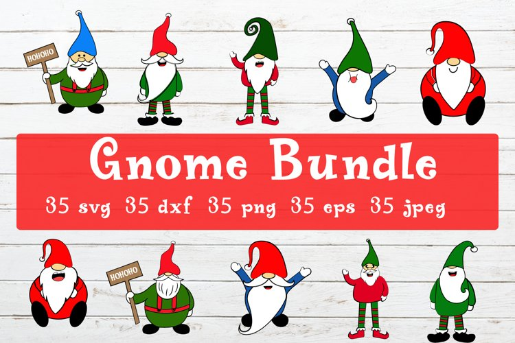 Gnome Bundle| Cut Files example image 1
