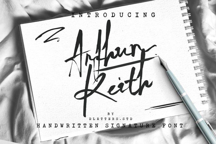 Arthur Keith - Signature Style Font