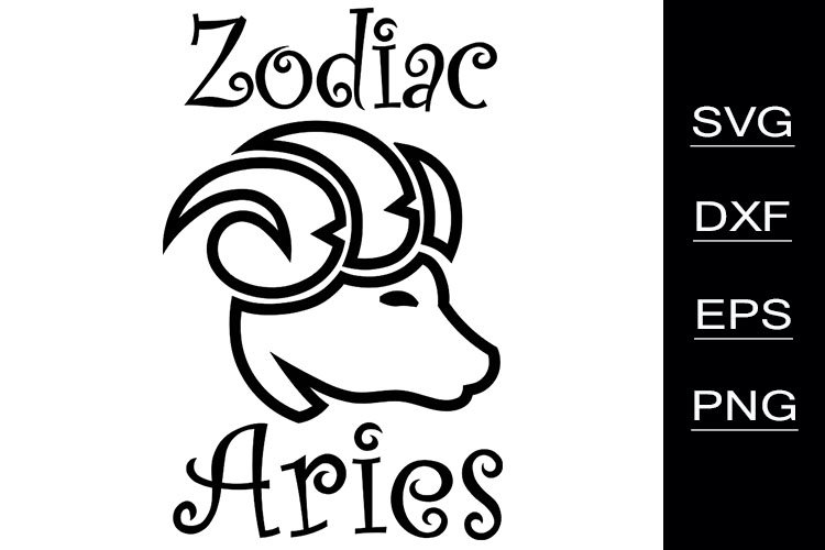 Zodiac Aries SVG cutting files example image 1