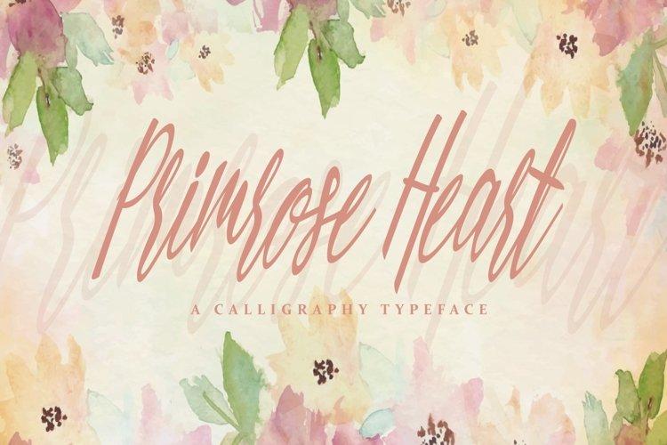 Web Font Primrose Heart example image 1