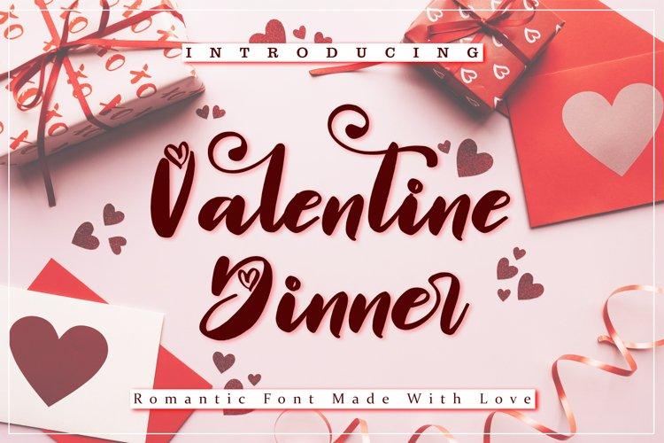 Valentine Dinner - WEB FONT example image 1