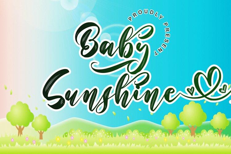 Baby Sunshine // Script Font - WEB FONT example image 1